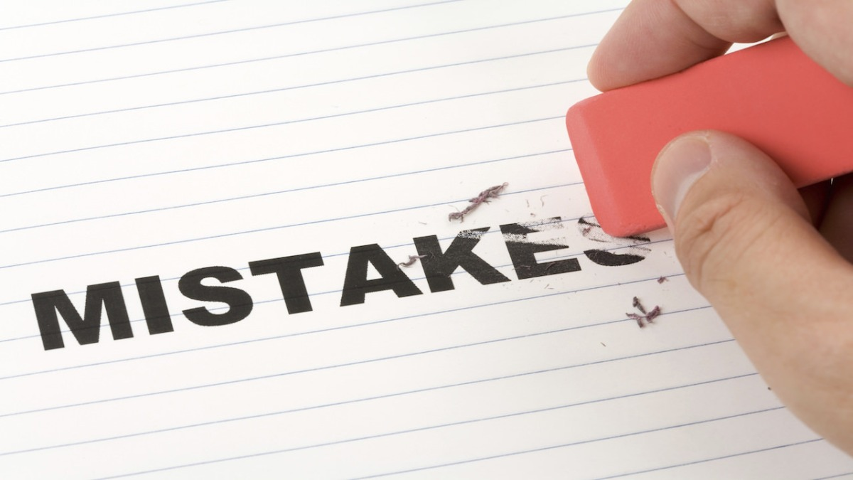 Making mistakes based on evidence